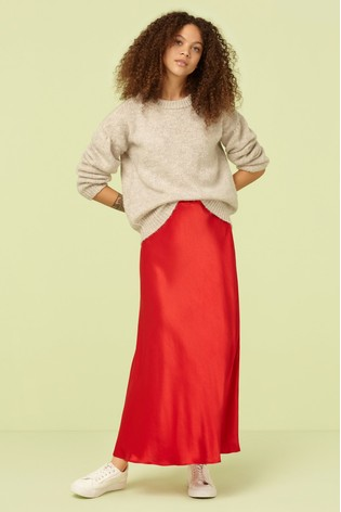 0ad7d5a7b6 Buy Finery London Red Alberte Satin Midi Skirt from Next Gibraltar