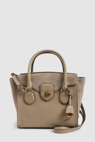 328c5723b0 Buy Lauren Ralph Lauren® Taupe Suede Tote Bag from Next Ireland