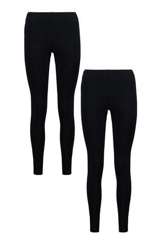F&F Black Leggings Two Pack