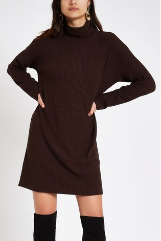 66893587 Buy River Island Burgundy Ribbed Dress from the Next UK online shop