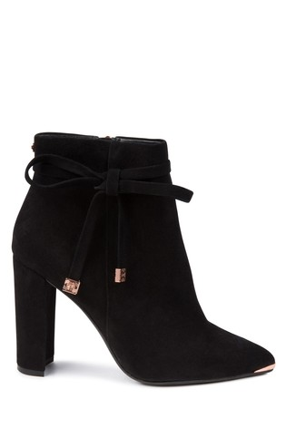 36fee9d28 Buy Ted Baker Black Suede Qatena Bow Ankle Boot from Next Ireland