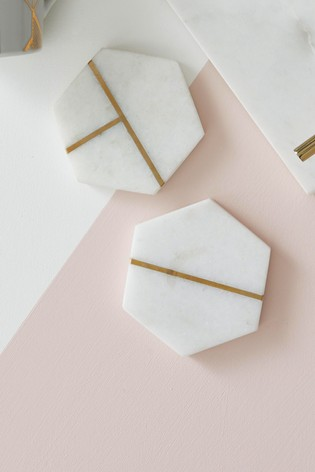 Buy Set Of 2 Lipsy Marble Coasters From The Next Uk Online Shop