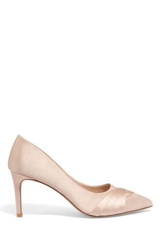 4df5933f254 Phase Eight Pink Rosie Satin Court Shoe