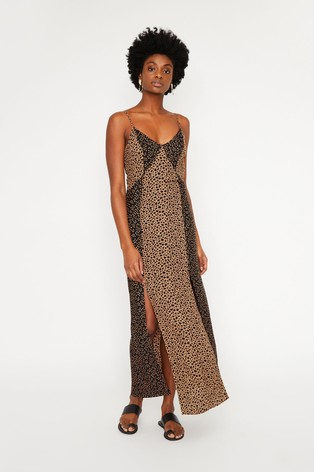 1bb2303e2 Buy Warehouse Tan Mixed Animal Print Maxi Dress from the Next UK ...