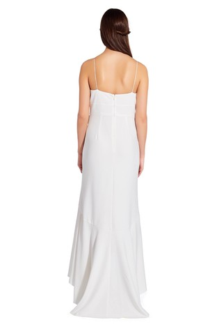 3c62475ac3541d Buy Adrianna Papell White Knit Crepe Cascade Gown from Next Ireland