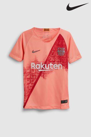 6eb39285 Buy Nike Pink FC Barcelona 2018/19 Stadium Third Jersey from Next ...