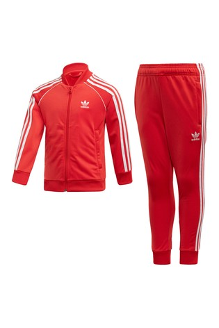 adidas Originals Little Kids Red SuperStar Tracksuit