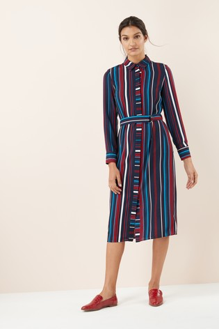edb4173f6cd Buy Belted Shirt Dress from Next Ireland