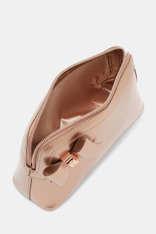 c854d1d40a66 Buy Ted Baker Aubrie Rose Gold Bow Make Up Bag from the Next UK ...