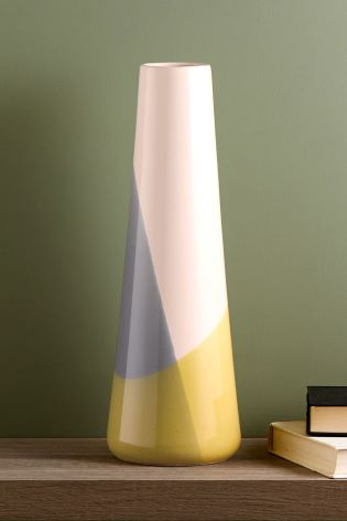 Buy Tall Colourblock Vase From The Next Uk Online Shop