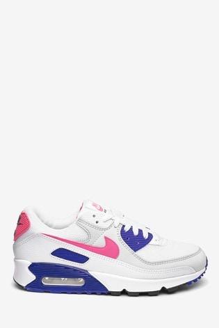 Dinámica precio Petrificar  Buy Nike White/Pink Air MX 90 Trainers from the Next UK online shop
