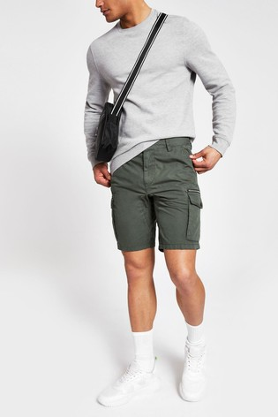 famous designer brand lowest discount fresh styles River Island Khaki Cargo Shorts
