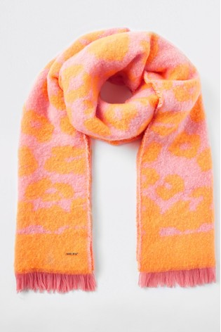 55992a0975 Buy River Island Neon Animal Print Scarf from Next Oman
