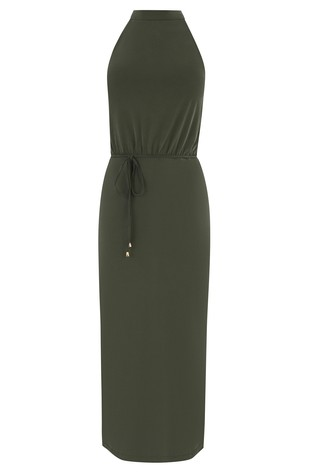 73a087dfc7a3 Buy Oasis Green Halter Cupro Midi Dress from Next Italy