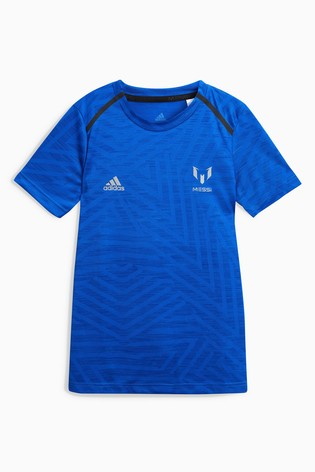 Buy adidas Blue Messi Icon Jersey from the Next UK online shop c61c088a1