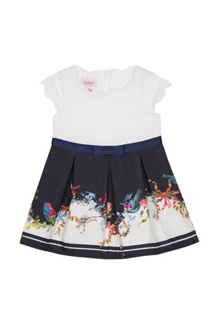 0e535b6e4b5f Buy baker by Ted Baker Baby Girl Navy Printed Dress from Next Pakistan
