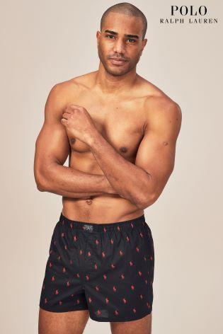 Woven Boxer Lauren Ralph Three Polo Rednavygreen Pack Printed shrdQxtC