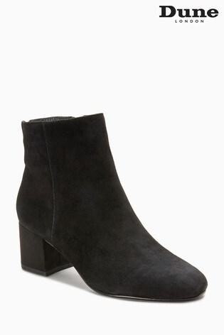 Olyvea Black Suede Heeled Ankle Boot