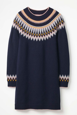0241dfb23fa Buy Boden Navy Agnes Fairisle Pattern Dress from Next Ireland