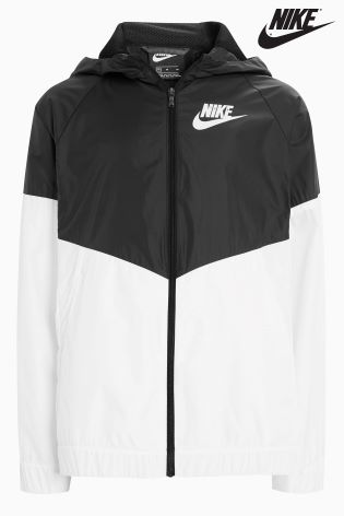 d72d4436522 Buy Nike Black/White Wind Runner Jacket from Next Ireland