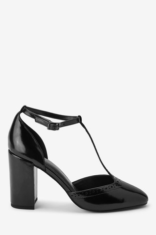 save up to 80% coupon codes classic Buy Brogue Block Heel T-Bar Shoes from the Next UK online shop