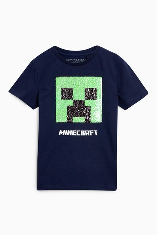 f2aff7900 Buy Minecraft Sequin Change T-Shirt (4-14yrs) from the Next UK ...