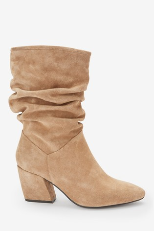 4ca29b8a4 Buy Caramel Forever Comfort® Suede Slouch Boots from Next Gibraltar