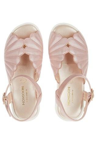 c5316cf0943 Buy Monsoon Pale Pink Shellie Flatform Sandal from the Next UK ...