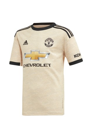 detailed look 5b8b6 19a60 adidas Youth Cream Manchester United Football Club 2019/2020 Away Jersey