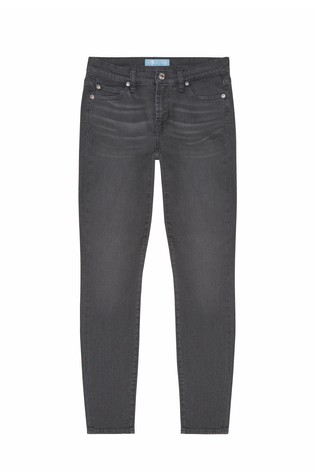 08e99e473ad Buy 7 For All Mankind Grey Skinny Crop Stretch Jean from Next Ireland