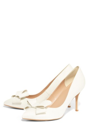d31e155de19 Phase Eight Cream Kara Satin Pointed Court Shoe