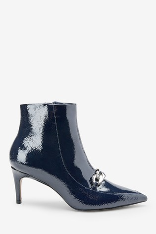 d6fcbf3dd6b Navy Forever Comfort® Chain Detail Ankle Boots