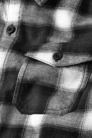 be0ba780afa8 ... Čierno-biela - Károvaná košeľa s kapucňou a dlhým rukávom (3 – 16 rok