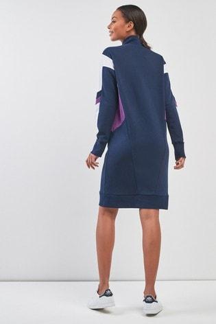 c666b3505ff Buy adidas Originals 90s Block Navy Sweat Dress from the Next UK ...