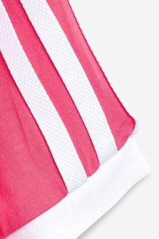 d094c35e67e Buy adidas Originals Little Kids Pink 3 Stripe Cali T-Shirt from the ...