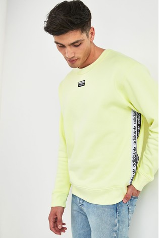 uk store official supplier speical offer adidas Originals Yellow R.Y.V. Crew