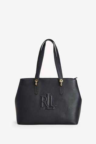 Ralph Lauren Black Monogram Highfield Bag by Next