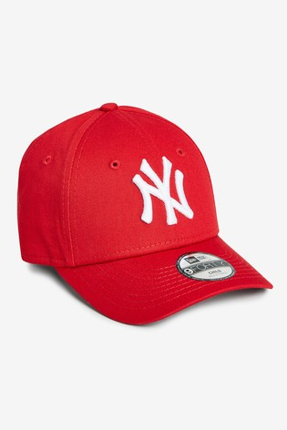 new styles 8eed5 5ad63 Red New Era® Kids 9FORTY NY Yankees Essential Cap ...