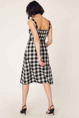 179301286f80 Buy Oasis Black Gingham Midi Dress from the Next UK online shop
