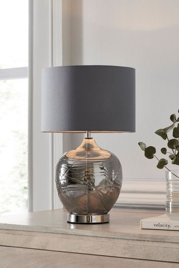 Smoked Drizzle Touch Table Lamp | Lamp