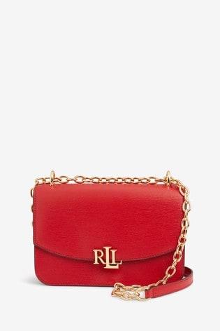 säästää jopa 80% verkossa täällä tehdashinta Ralph Lauren Red Madison Cross Body Bag