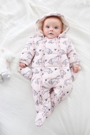 Pink Unicorn All-In-One (0mths-2yrs)