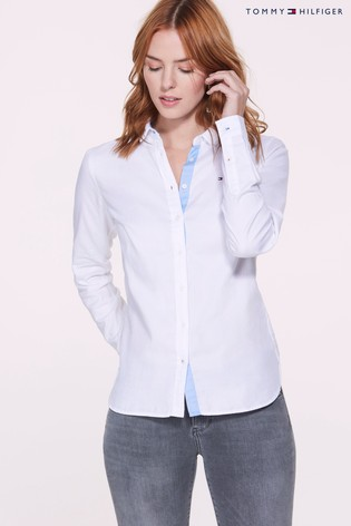 Buy Tommy Hilfiger White Jenna Oxford Shirt from Next France 0ae48f9ef4e2