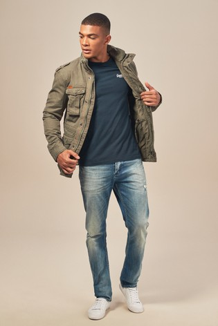 fdd5bd08da4ea Buy Superdry Khaki Classic Rookie Military Jacket from the Next UK ...