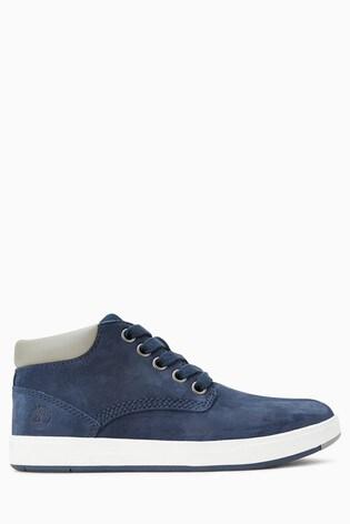 Buy Timberland® Navy Leather Davis Square Chukka Boot from Next Slovakia 5e1ee0f4359