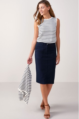 f674f55983 Buy Pure Collection Chino Pencil Skirt from the Next UK online shop