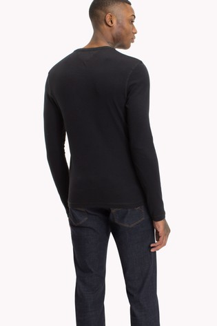 2f759cdc Buy Tommy Jeans Original Rib Long Sleeve T-Shirt from Next Italy