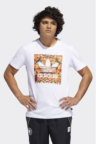f5acef66a Buy adidas Originals White Evisen BB Fill Tee from the Next UK ...