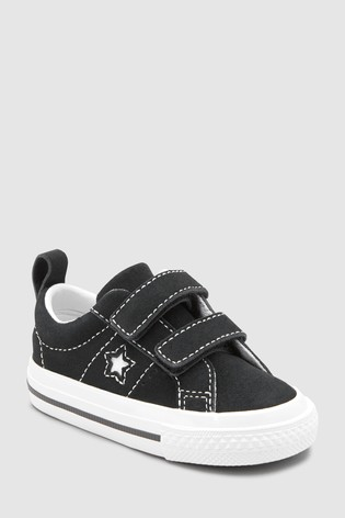 One Star Velcro Suede Infant Black Converse byvgYf76
