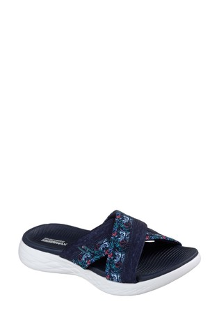 a17b97a572103 Buy Skechers® Blue On The Go 600 Monarch Navy Cross Sandals from the ...